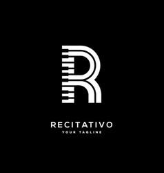 Music letter r vector
