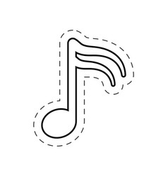 music note harmony cut line vector image
