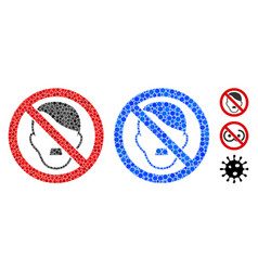 No fascist composition icon circles vector