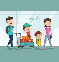 of travelling vector image