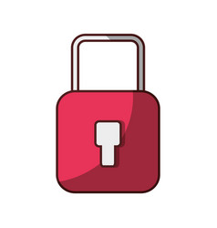 padlock security protection icon isolated design vector image