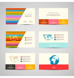 Paper Business Cards Template Set on Grey vector image vector image