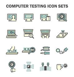 Pc test icon vector