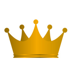 Princess golden crown icon isolated on white vector