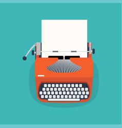 retro typewriter and paper sheetit vector image