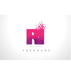 Ri r i letter logo with pink purple color vector