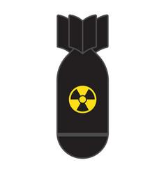 Rocket bomb flies down vector