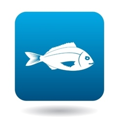 Saltwater fish icon simple style vector