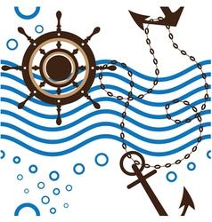 Seamless marine vector