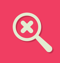 Search icon with cancel sign vector