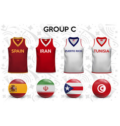 set soccer jersey or football kit template vector image