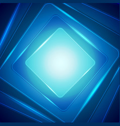 shiny dark blue squares abstract background vector image