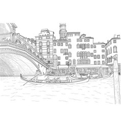 sketch of venice vector image