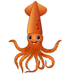 squid cartoon vector image