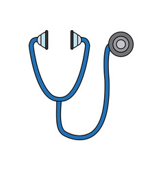 Stethoscope medical equipment pulse health element vector