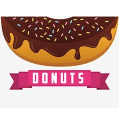 Sweet donuts design vector