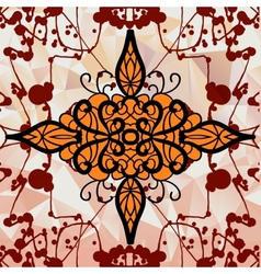 Symmetry ornamental design over triangles vector image
