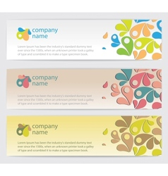 Three Invitation cards with drop backgrounds vector image