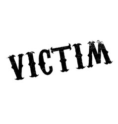 Victim rubber stamp vector