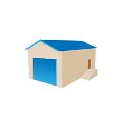 Warehouse building icon cartoon style vector image