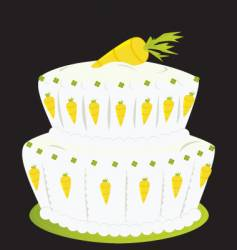 carrot cake vector image vector image