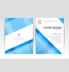 cover magazine layout cover design template vector image