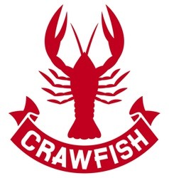 Crawfish label vector