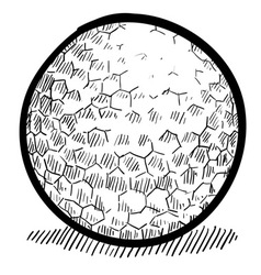 doodle golf ball vector image
