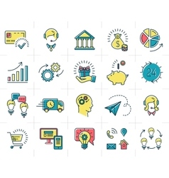 infographic set business icons Marketing vector image vector image