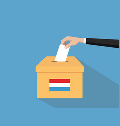 luxembourg election vote concept with vector image vector image