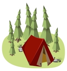 Tent for hiking vector image