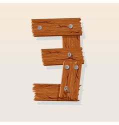 wooden type 3 vector image vector image