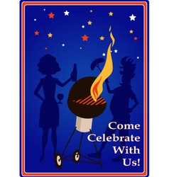 Come celebrate with us vector image