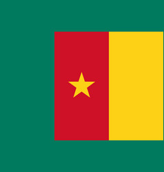 flag in colors of cameroon image vector image vector image