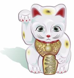 lucky cat vector image vector image