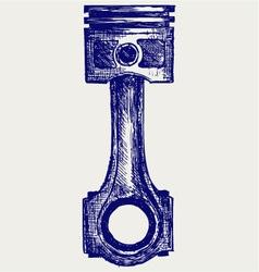 Piston vector image vector image