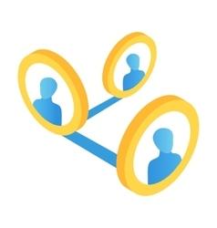 Social media isometric 3d icon vector image