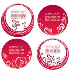 valentine day stickers vector image