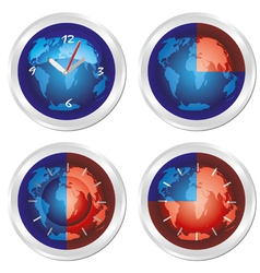 world time vector image vector image