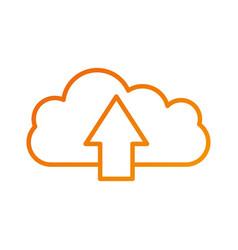 cloud computing upload file information storage vector image