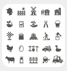 Farm and agriculture icons set vector image vector image