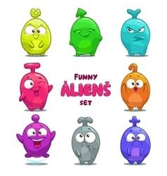 Funny cartoon colorful aliens vector image vector image