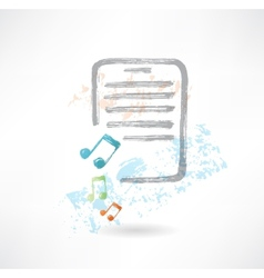 Music doc grunge icon vector image