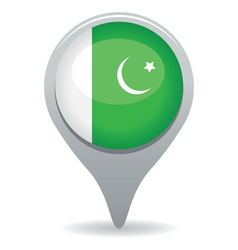pakistan flag pointer vector image