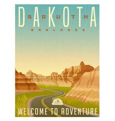 south dakota badlands national park vector image vector image