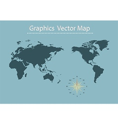 World map of Information Graphics vector image vector image