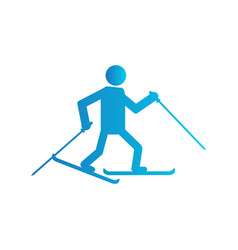 abstract winter sport vector image