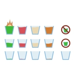 alcohol shot drink in glass vector image vector image