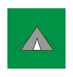 Place for tent sign in green square vector image