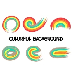 Rainbow colors abstract circle frame vector image